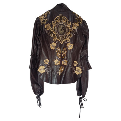 Roberto Cavalli Leather Jacket Roberto Cavalli tg M