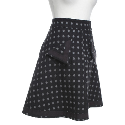 Sonia Rykiel Dotted skirt in black / grey