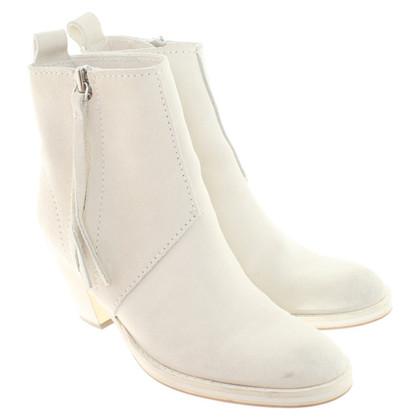 Acne Pistol Boots in cream white