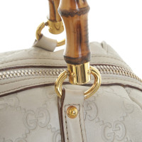Gucci Leder-Handtasche in Beige