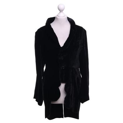 Comme des Garçons Manteau en velours noir