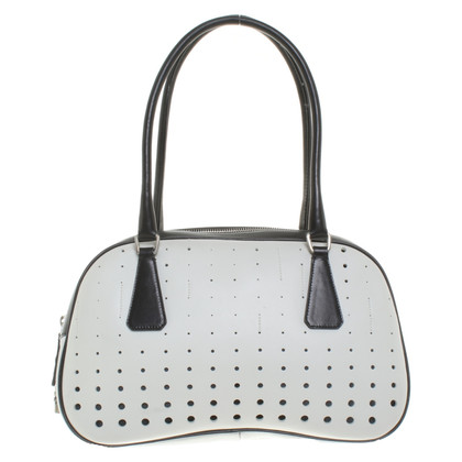 Prada Handbag in black and white