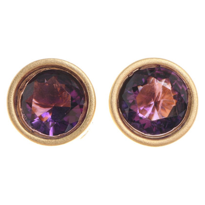 Bliss Studs with gemstone