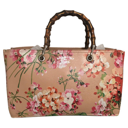 """Gucci """"Bamboo Shopper Blooms Leather Tote Bag"""""""