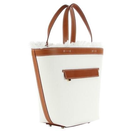 Loro Piana Handtasche in Weiß/Braun