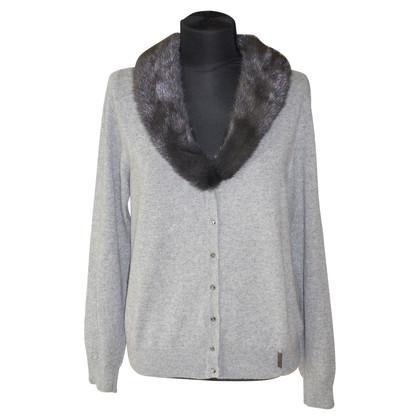 Blumarine Cashmere jacket with mink collar