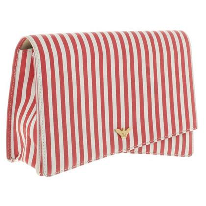 Giorgio Armani clutch in rosso / bianco