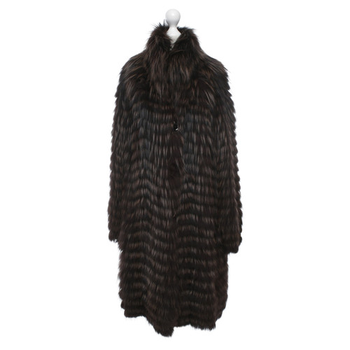 size 40 ca69d 04002 Marc Cain Jacket/Coat Fur in Brown - Second Hand Marc Cain ...