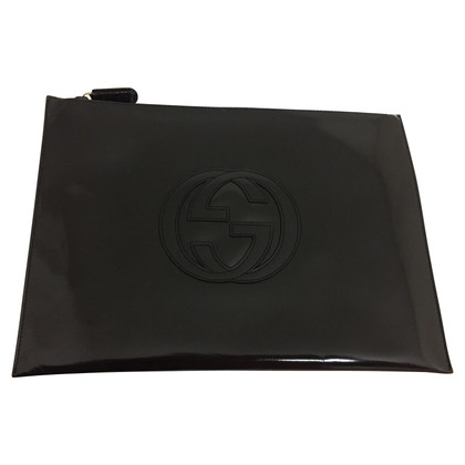 Gucci clutch in donkerblauw