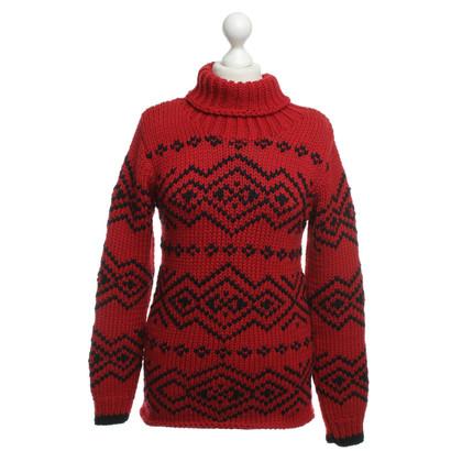 Prada Pullover in Rot/Schwarz