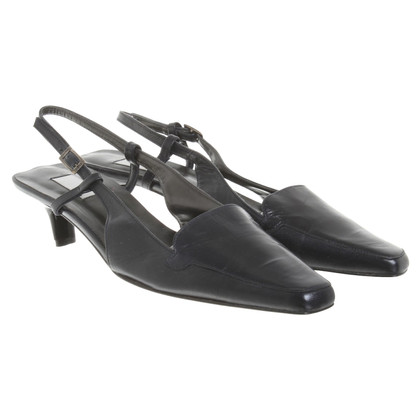 Donna Karan Slingback pumps in donkerblauw
