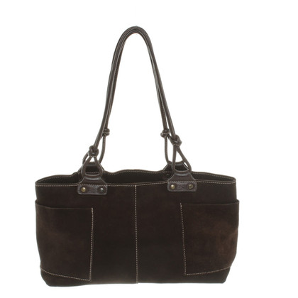 Coccinelle Suede Bag in Brown