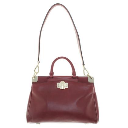 Navyboot Bordeaux leather handbag