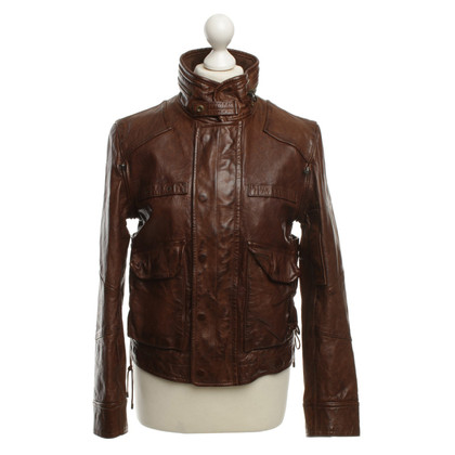 Ralph Lauren Giacca in pelle marrone