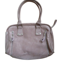 longchamp handtasche aus rosa rauhleder second hand. Black Bedroom Furniture Sets. Home Design Ideas