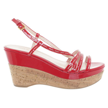 Prada Wedges in Cork en lakleer
