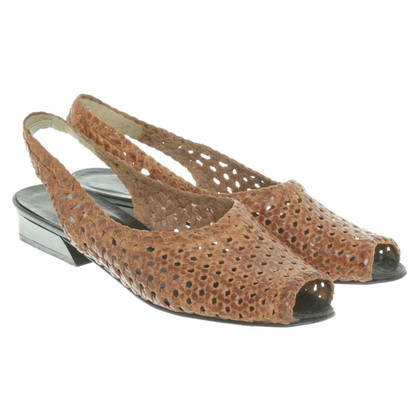 Bally Leather sandals with Entrelac pattern