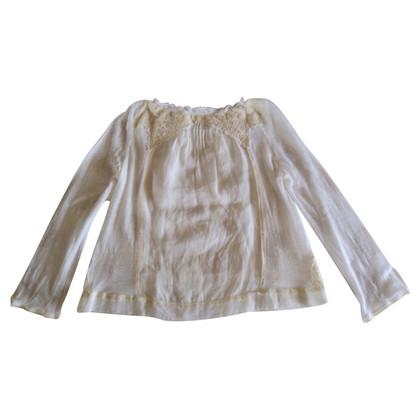 Vanessa Bruno camicia in lino con ricami