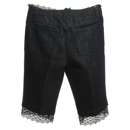 Chanel Jean broek met kanten rand