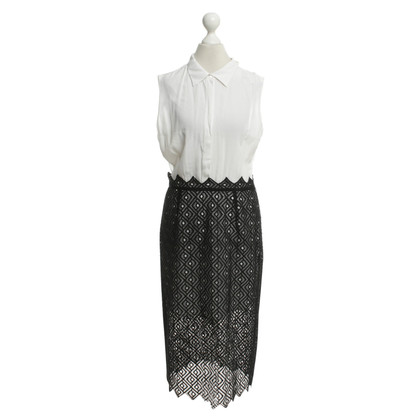 Sandro Dress with lace skirt