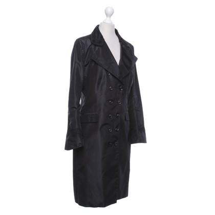 Ermanno Scervino Zijden jas in zwart