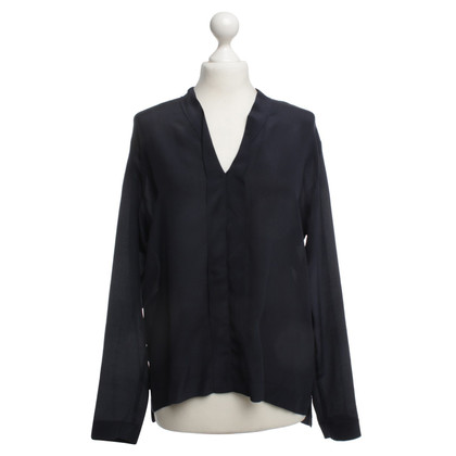 Drykorn Silk blouse in dark blue