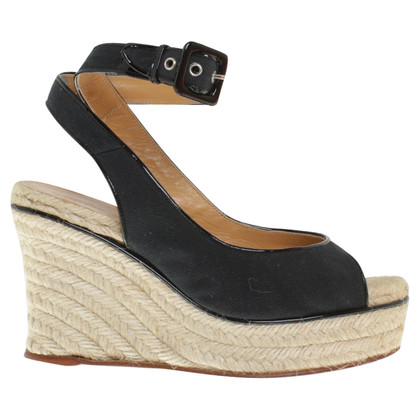 Hermès Wedges in Schwarz
