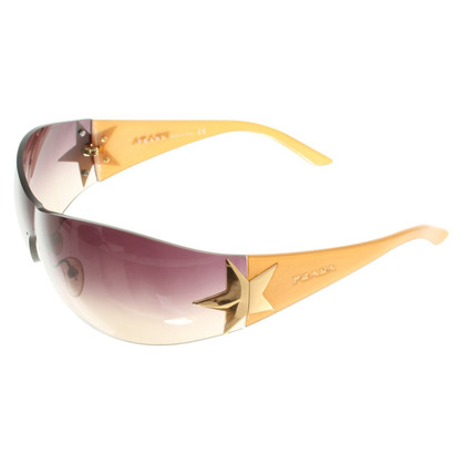 Prada Sporty Sunglasses in Beige / Violet