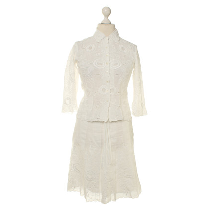 Bogner Linnen kostuum in wit