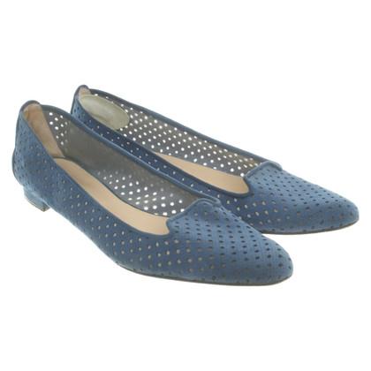 Manolo Blahnik Slipper in blue