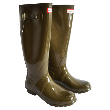 Hunter stivali di gomma in Gloss Olive