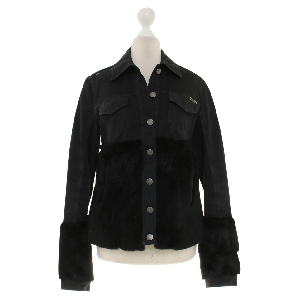 John Galliano Jean jas in zwart