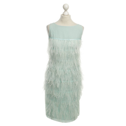 St. John Silk dress with feathers