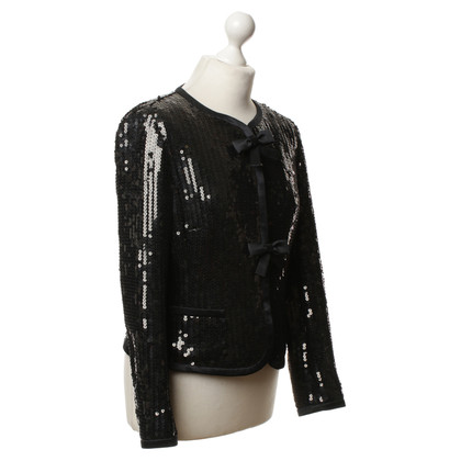 Rena Lange Sequin jacket in black