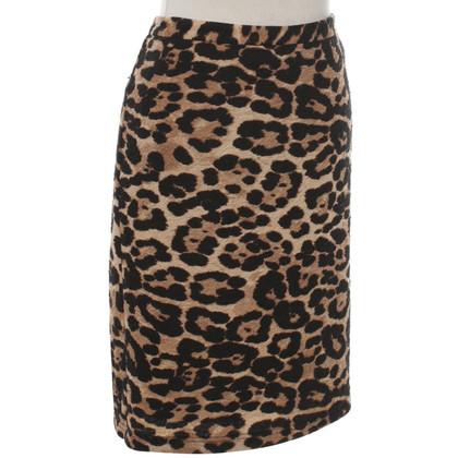 Steffen Schraut skirt with leopard pattern