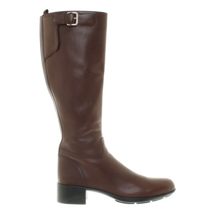 Prada Dark brown boots of smooth leather