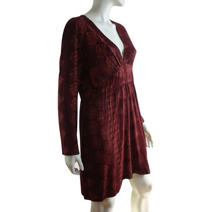 Antik Batik Tunika-Kleid in Bordeaux