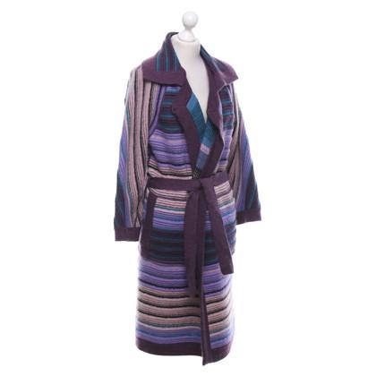 Missoni Manteau tricoté avec motif