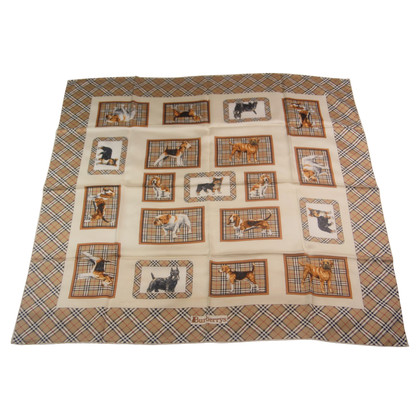 Burberry Silk scarf with dog motif