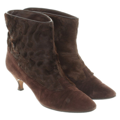 Manolo Blahnik Ankle boots in brown