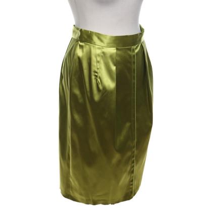 Dolce & Gabbana Gonna verde lime in raso