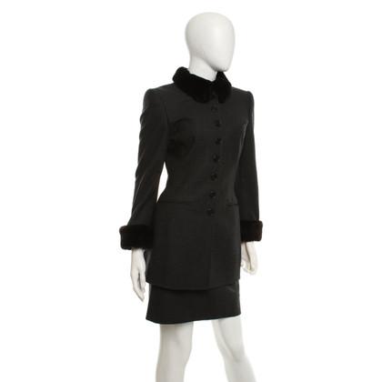 Rena Lange Costume en gris foncé
