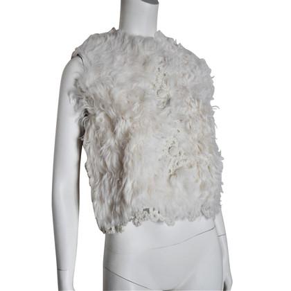 Ermanno Scervino Leather Vest / Fur