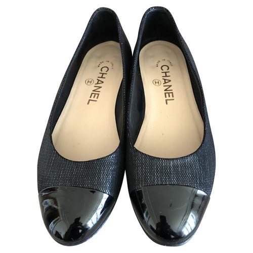 più foto Garanzia di qualità al 100% prezzo basso Chanel Mocassini/Ballerine in Pelle in Nero - Second hand ...