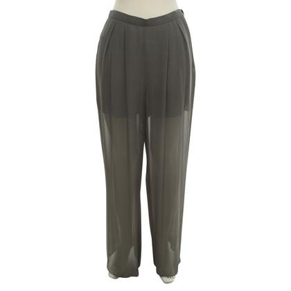 Chanel Pantaloni di seta in grigio