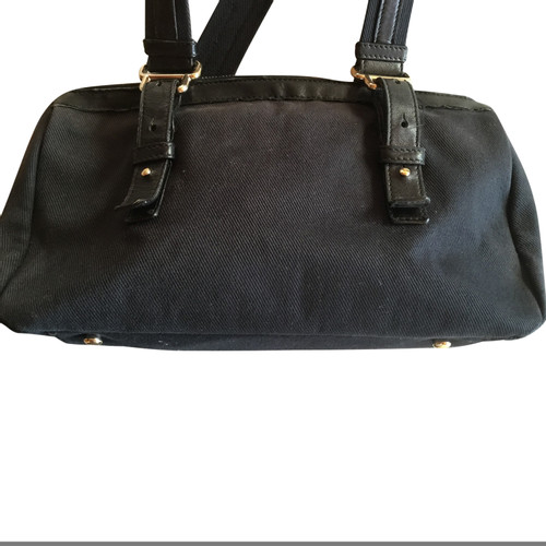 7cc7f0ab899 Yves Saint Laurent Handbag Linen in Black - Second Hand Yves Saint ...