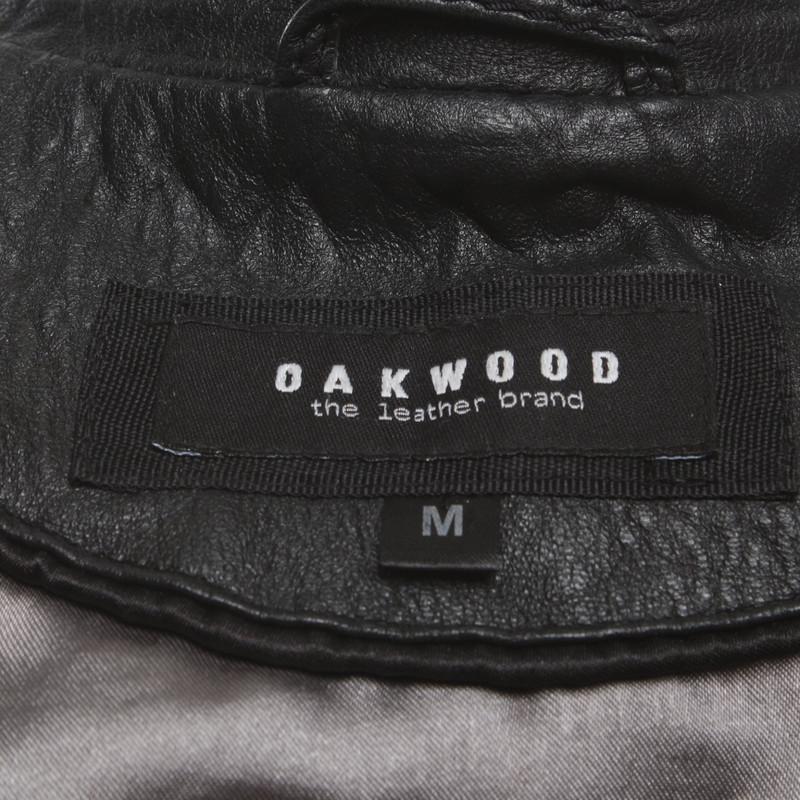 Oakwood JacketCoat Leather in Black Second Hand Oakwood