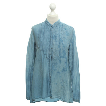 7 For All Mankind Blouse with a delicate batik pattern