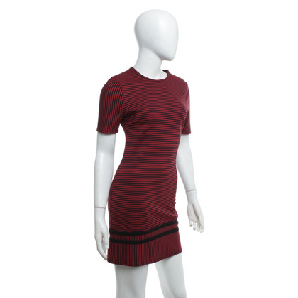 Claudie Pierlot Gestreepte jurk in rood / zwart