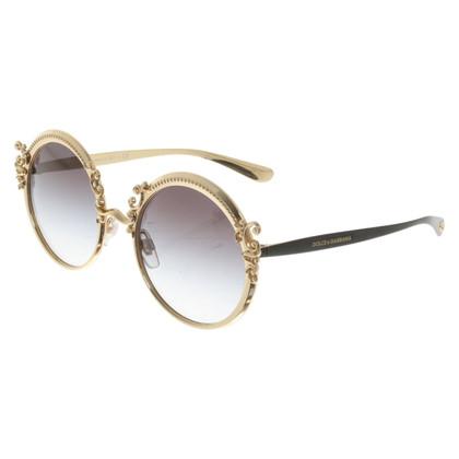 Dolce & Gabbana Sonnenbrille in Goldfarben